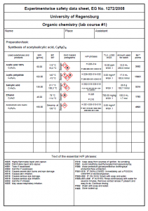 Group safety data sheet